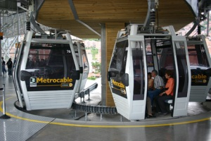 A new cablecar system in Medellin, Colombia, links poorer neighborhoods with the city center.
