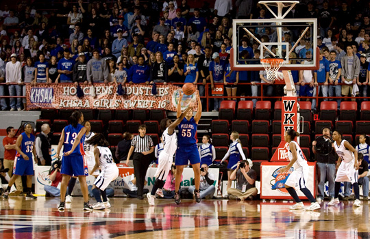 The Houchens Industries/KHSAA Girls' Sweet 16 tipped off Wednesday afternoon at Diddle Arena.  (WKU photo by Clinton Lewis)