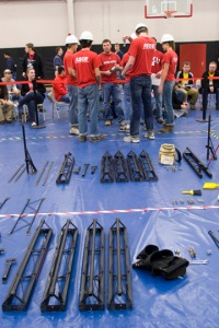 WKU civil engineering students participated in the steel bridge competition during the Ohio Valley Student Conference. (WKU photo by Michael McDowell)