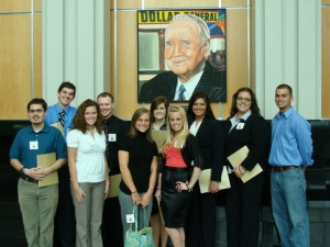 Members of the WKU chapter of the International Association of Business Communicators recently toured Dollar General headquarters in Goodlettsville, Tenn. Front row from left: Bobby McCandless of Glasgow, Carmen Trimpe of Crestwood, Nicole Lyons of Louisville, Stacy Wells of Bowling Green. Back row from left: Caleb Johnson of Russellville, Caleb Parrigan of Caneyville, Laura Chaney of Florence, Michelle Morrison of Bowling Green, Amanda K. Belcher of Auburn, Colton Wherry of Goodlettsville, Tenn. (Not pictured: Kristen Callaway of Sturgis and faculty advisor Donna Renaud of Bowling Green).