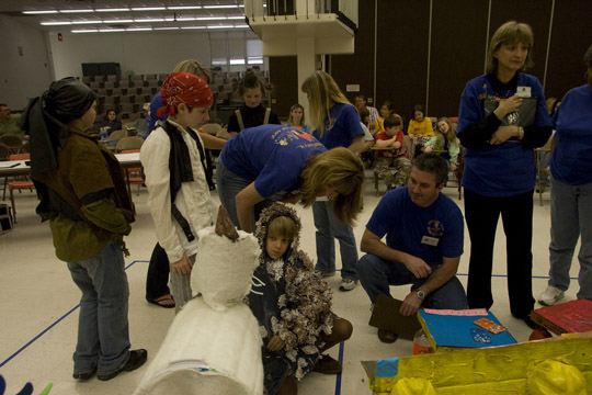 Students from across Kentucky participated in the Odyssey of the Mind state tournament April 18 at WKU. (WKU Photo by Michael McDowell)