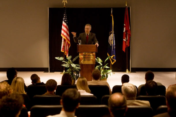 U.S. Sen. Mitch McConnell visited WKU's South Campus for a Constitution Week event on Sept. 21. (WKU photo by Clinton Lewis)