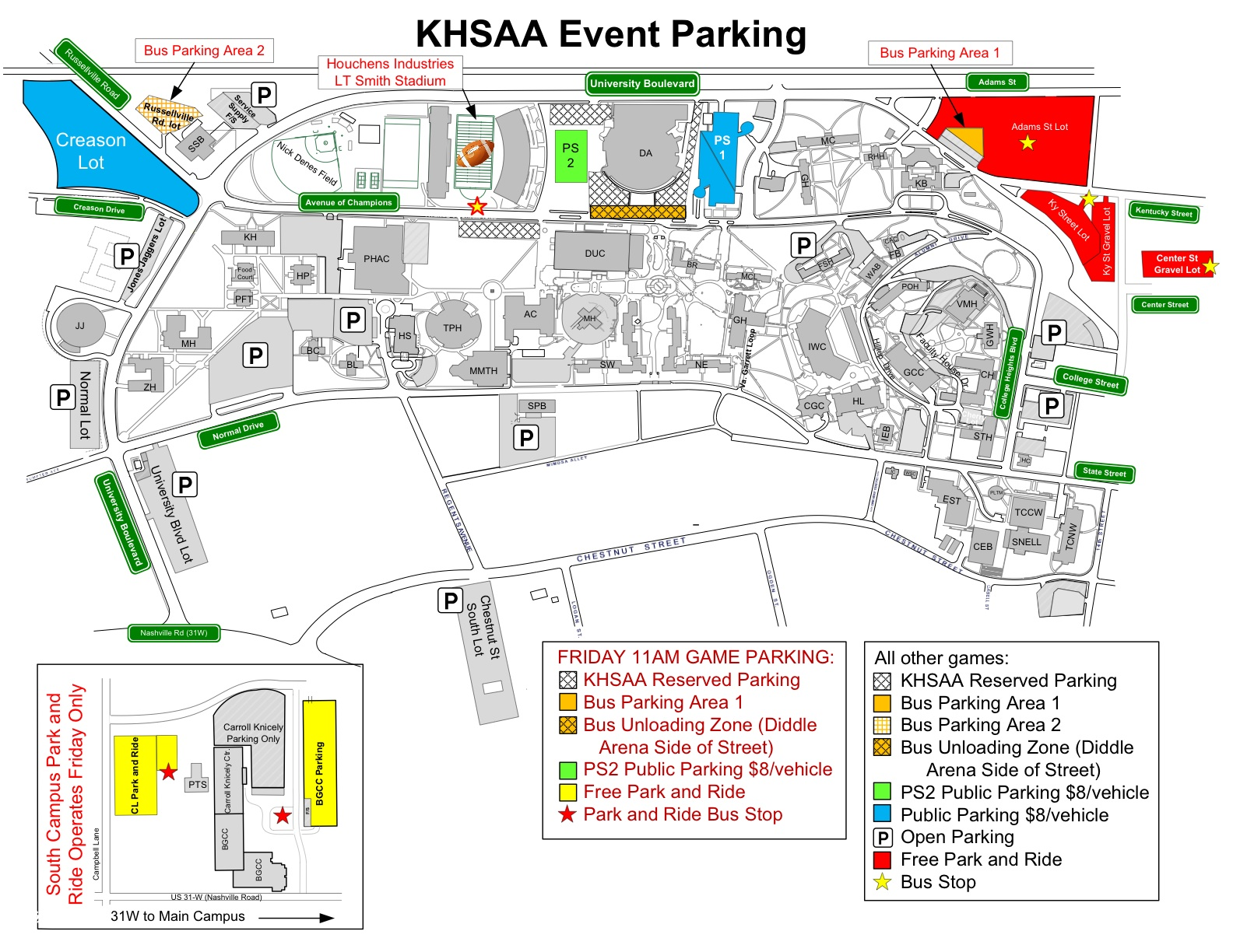 WKU makes parking changes for state football championship games