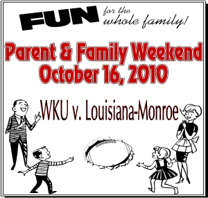 Parent and Family Weekend poster