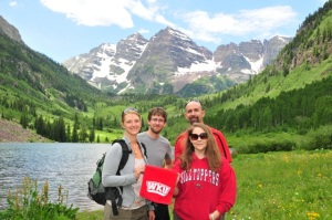 During their trip to the National Speleological Society meeting, WKU's Lee Anne Bledsoe, Sean Vanderhoff, Leslie North and Jason Polk took a field trip in Colorado learning about local karst geology.