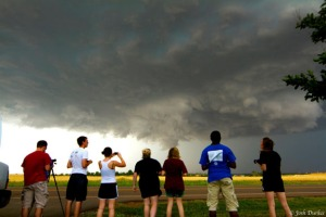 During the 2012 May term course, WKU Storm Chasers documented a tornado that formed near Piedmont, Okla. (Photo by Josh Durkee)