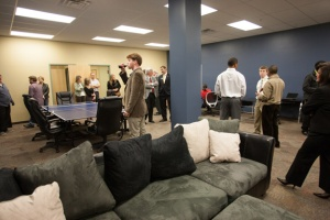 A room at WKU's Center for Research and Development was renovated to house Innoplexx, the Student Business Accelerator. (WKU photo by Clinton Lewis)
