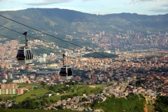 Medellin, Colombia, from the slopes of the Andes mountains.