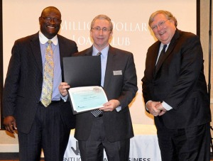 Photo: Robert Coffey, Kentucky SBA Business Development Specialist; Miller Slaughter, Center Director, Western Kentucky University SBDC; Ralph Ross, Kentucky SBA District Director