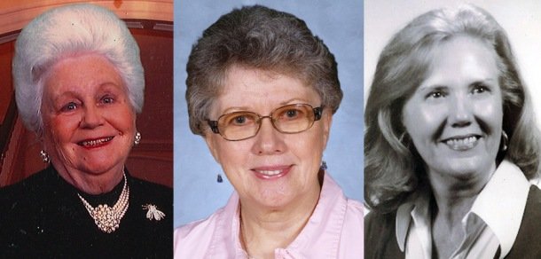 The members of the sixth class of the Kentucky Teacher Hall of Fame will be inducted on Feb. 26. From left are Eloise Hadden, Anne Padilla and Juanita Park.