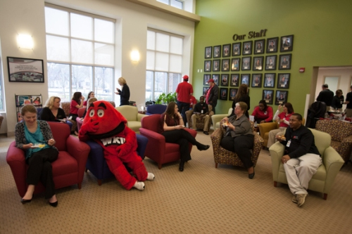 health services reception big red