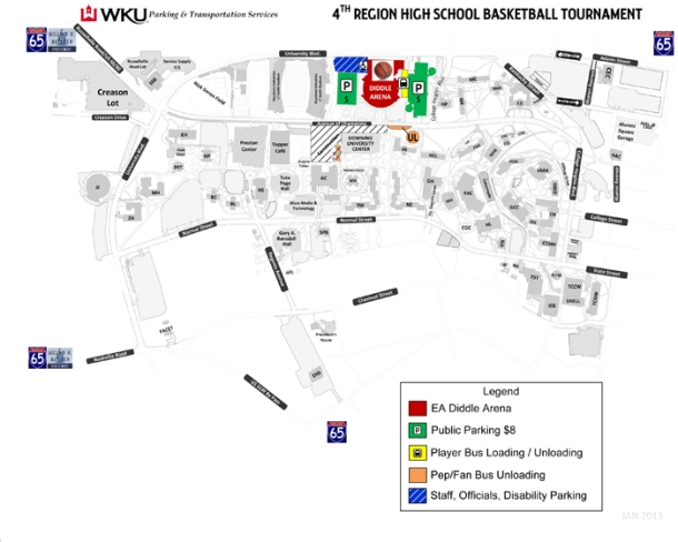 2013 4th region parking map