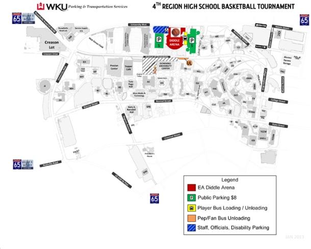 2013 4th region parking map