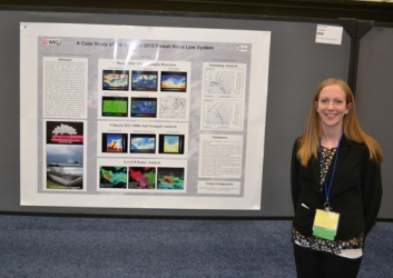 WKU student Emily Yates presented her meteorology research poster at the conference in Austin, Texas.