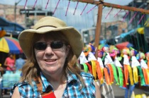 Dr. S. Kay Gandy at the Belen Market in Iquitos, Peru.