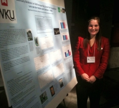 Lara van der Heiden was among the WKU students who presented research during Posters-at-the-Capitol. (Photo by Dr. Blaine Ferrell)