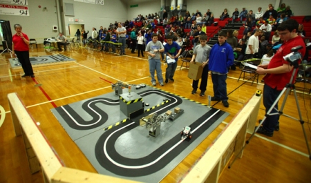 The 13th annual Kentucky Bluegrass LEGO Robotics Competition will be held Feb. 23 at Drakes Creek Middle School. (WKU photo by Bryan Lemon)