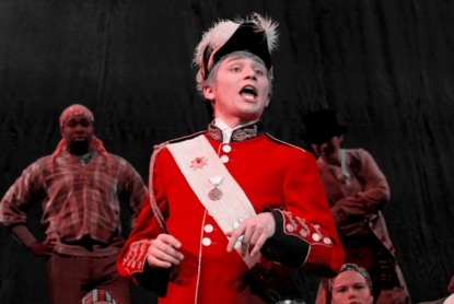 "Oliver Pierce, a junior from Muhlenberg County, plays the Major General in WKU's production of ""The Pirates of Penzance"" at Van Meter Hall. (Photo by Jeff Smith)"