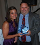 Kourtney Barrett and ASCA President Chris Lochiavo