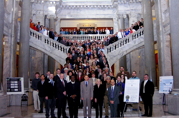 The 2013 Posters-at-the-Capitol event was held Feb. 21 in Frankfort.