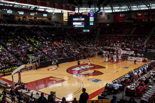 The 2013 Houchens Industries/KHSAA Girls Sweet Sixteen began Wednesday (March 13) and continues through Saturday (March 16) at WKU's Diddle Arena. (WKU photo by Bryan Lemon)