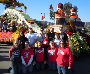 "Danielle Berkshire, a senior from Sparta, described the ""Floral Design at the Rose Bowl Parade"" course as ""a chance of a lifetime! I never dreamed I would have the chance to be traveling across the country!"""