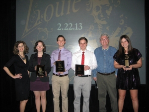 Past and present Imagewest team members attended the 39th annual Louie Awards and brought home four awards.Attendees (from left) were Imagewest Director Heather Garcia, Brie Logsdon, Alan Schneller, Jake Stephenson, ImagewestFaculty Advisor Mark Simpson and Catherine Montano.