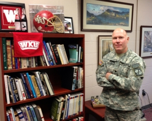 Lt. Col. Scott Walker, a 1990 WKU graduate, is the new head of the Department of Military Science.