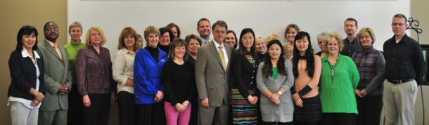 Principals and administrators from Owensboro and Daviess County schools, faculty/staff from WKU and the Confucius Institute staff attended a celebration March 18 at WKU-Owensboro.