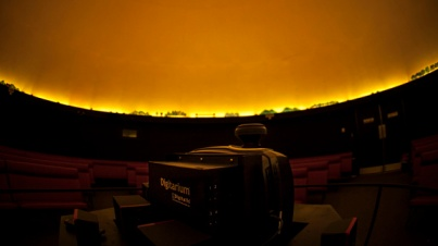 The Hardin Planetarium's new digital projection system was installed in late December. (WKU photo by Bryan Lemon)