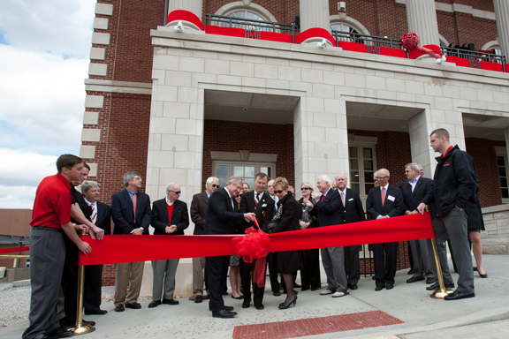 WKU officially opened the Augenstein Alumni Center on April 12 with a dedication ceremony and ribbon cutting. (WKU photo by Clinton Lewis)