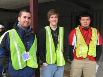 WKU surveying team members are (from left) Dylan Jones, Kent Jones and Michael Simpson.