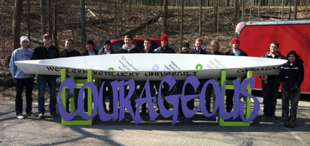 Team Courageous was inspired by a student battling cancer. The team finished third overall in the regional competition.
