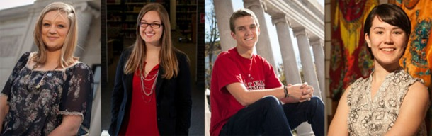 Four Chinese Flagship students have received Critical Language Scholarships. From left are: