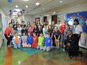 The Confucius Institute worked with students at Jody Richards Elementary School. (Photo by Tina Hargett)