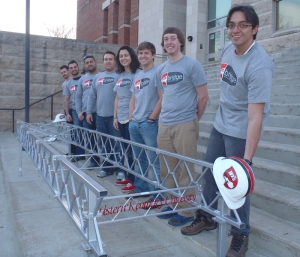 The WKU Steel Bridge team finished third overall in regional competition and advanced to the national competition.