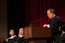 Senate President Robert Stivers delivered graduation remarks. (WKU photo by Clinton Lewis)