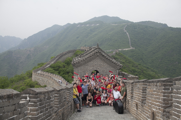 WKU President Gary Ransdell and his wife, Julie, joined the Symphony at WKU during a visit to the Great Wall of China. (WKU photo by Bryan Lemon)