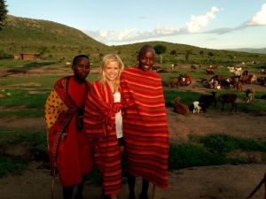 WKU student Amy Correll (center) has been awarded a FUSE grant for a research project in Kenya.