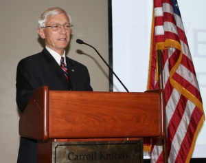 Dan Cherry was the keynote speaker May 3 for the Veterans Upward Bound Annual Awards Banquet.