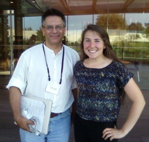 Gatton Academy student Gretchen Walch is pictured with Dr. Graham Hatfull, Professor of Biological Sciences at the University of Pittsburgh and Howard Hughes Medical Institute (HHMI) Professor. Dr. Hatfull is the Principal Investigator for the HHMI Science Education Alliance-Phage Hunters Advancing Genomic and Evolutionary Science program, a research-based laboratory course aimed at undergraduate students who are new to college-level science and have had little or no independent research experience.