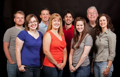 Members of the Imagewest International Team 2013 are: front row (from left) Rachael Fusting, Nicole Coomer, Martha Holmes and Heather Garcia; back row: Matt Love, Alan Schneller, Davide Fellini and Mark Simpson.