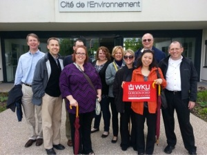 WKU PMBA students visited Cite de l'Environnement in Lyon, France.