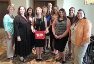 Students, faculty and staff from WKU's SKyTeach program attended the UTeach conference. From left are Catherine Rogier, Catherine Poteet, Dr. Martha M. Day, Madison Moore, Shelby Fisher, Dr. Les Pesterfield, Shelby Overstreet, Amanda Cook, Dagan Conatser, Dr. Jennifer Cribbs.