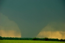 A wedge tornado near Bennington, Kan. (Photo by Ilea Schneider)