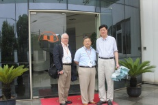 George Rasmussen and Dr. Wei-Ping Pan met with Dr. Gan at Houghton Industries in Shanghai.