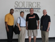 Source International's Don Salyers (third from left) met with WKU's Terrill Martin, Dr. Wei-Ping Pan and George Rasmussen.