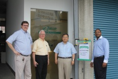 Zoeller Taiwan's Bill West (left) met with WKU's George Rasmussen, Dr. Wei-Ping Pan and Terrill Martin.