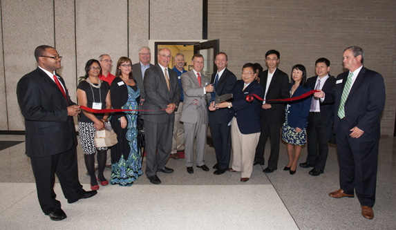 icset ribbon cutting