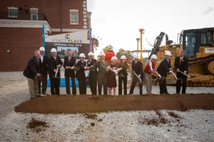A groundbreaking ceremony for a Hyatt hotel was held on Sept. 17. (WKU photo by Clinton Lewis)